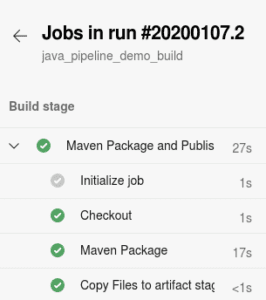 Azure Devops build Maven pipeline screenshot